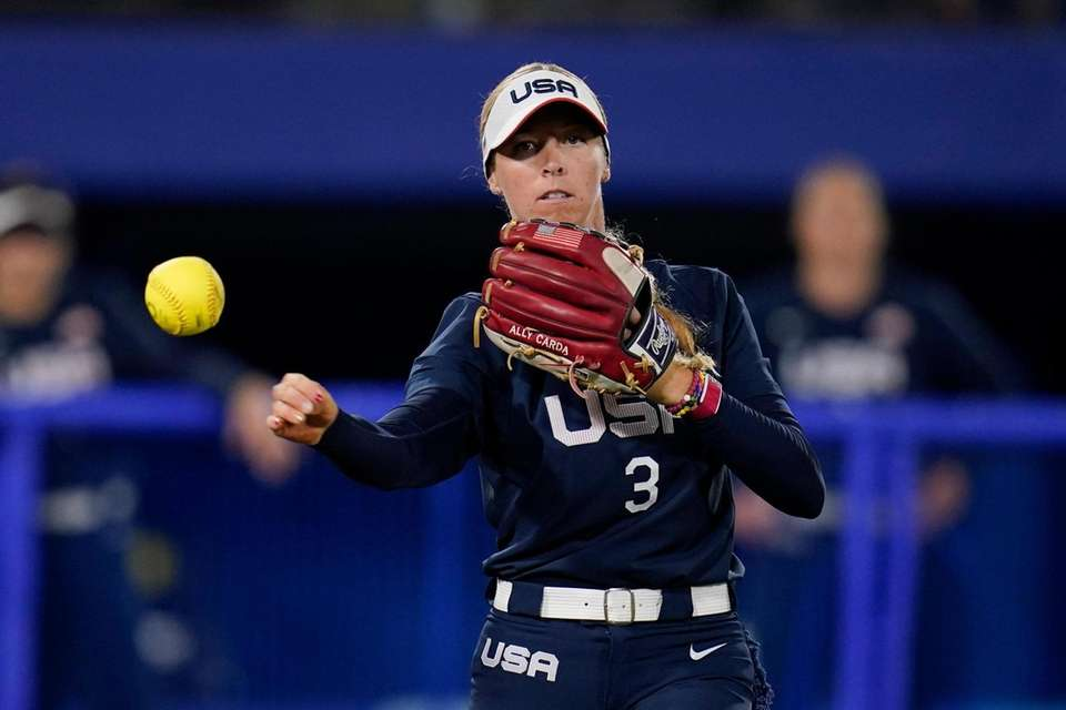 United States' Ally Carda throws out Japan's Haruka