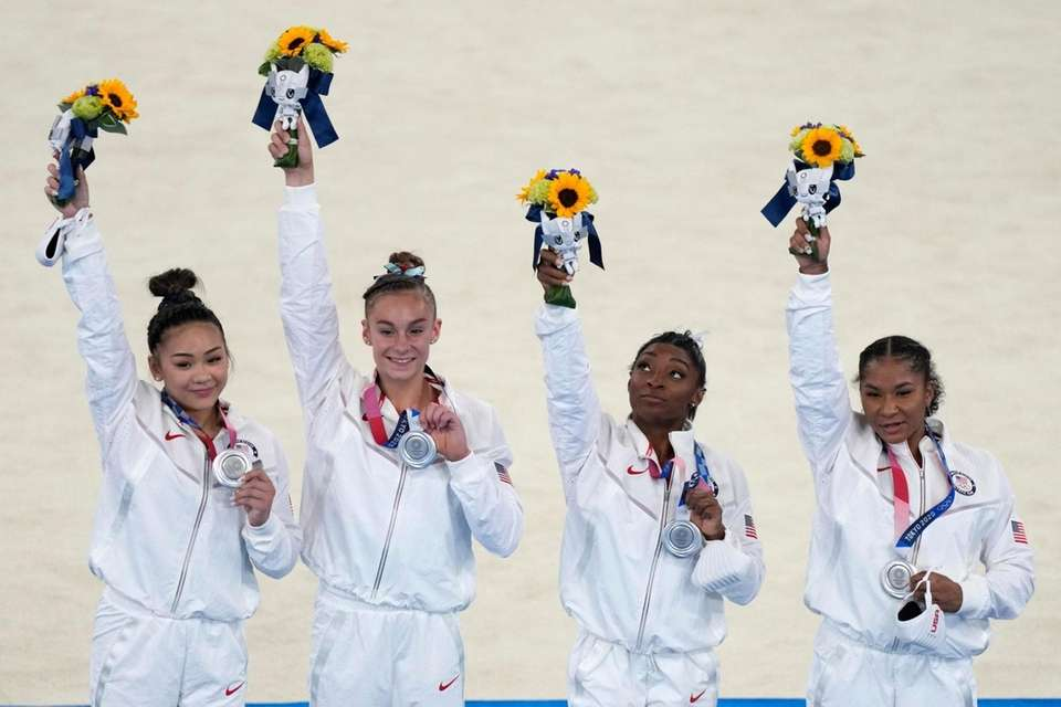 United States' artistic gymnastics women's team members, from