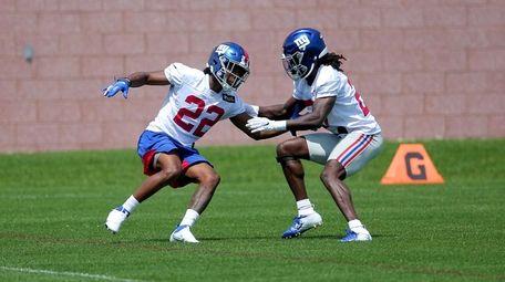 Giants cornerback Adoree Jackson (22) works against Isaac
