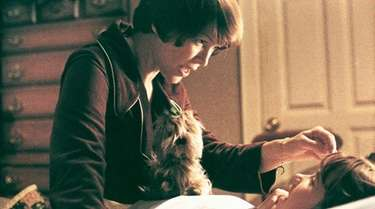 Ellen Burstyn (top) and Linda Blair in a
