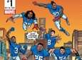 The cover for a Giants-themed Marvel comic book