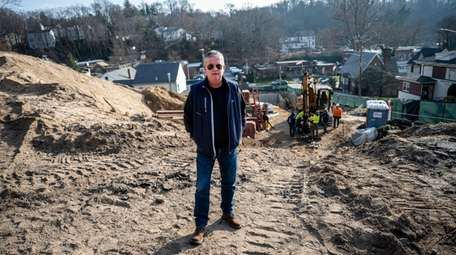 Developer Kevin O'Neill at the construction site for