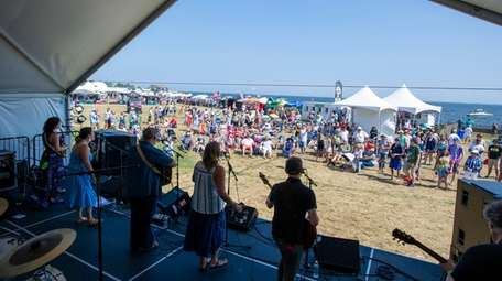 The band Miles to Dayton performs at Patchogue's