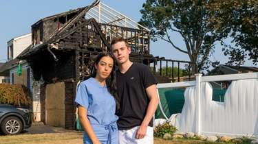 Antonina Barry, 19, and Daniel Shea, 19, helped