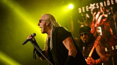 Dee Snider performs a concert and filming event
