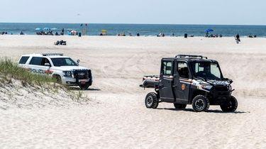 Enhanced patrolling at Nickerson Beach, as seen last