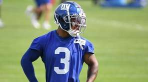 New York Giants wide receiver Sterling Shepard looks