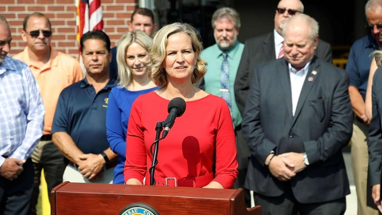 Nassau County Executive Laura Curran, speaking at the