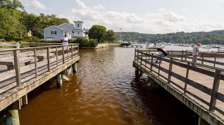 The inner waters of Cold Spring Harbor are
