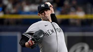 Jordan Montgomery of the Yankees throws a pitch