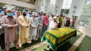 At the funeral for Farhan Zahid, friends and