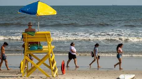 Swimming was limited on Wednesday after lifeguards spotted