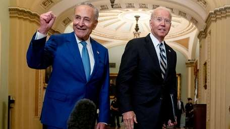 President Joe Biden and Senate Majority Leader Chuck