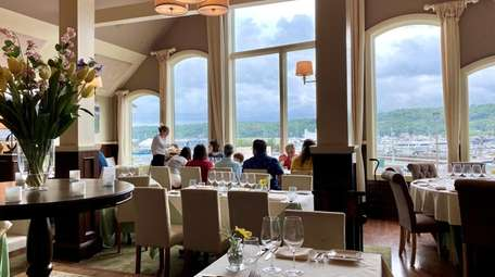 The dining room at P.J. Harbour Club has