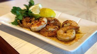 Grilled shrimp with lemon aioli at P.J. Harbour