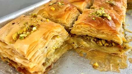 The baklava is homemade at Al Masry Grocery,
