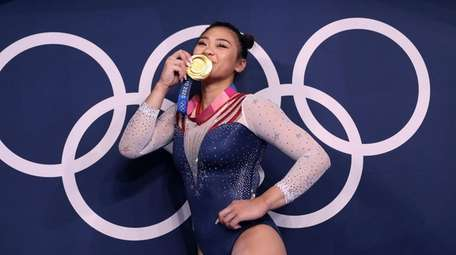 Sunisa Lee of Team USA poses with her