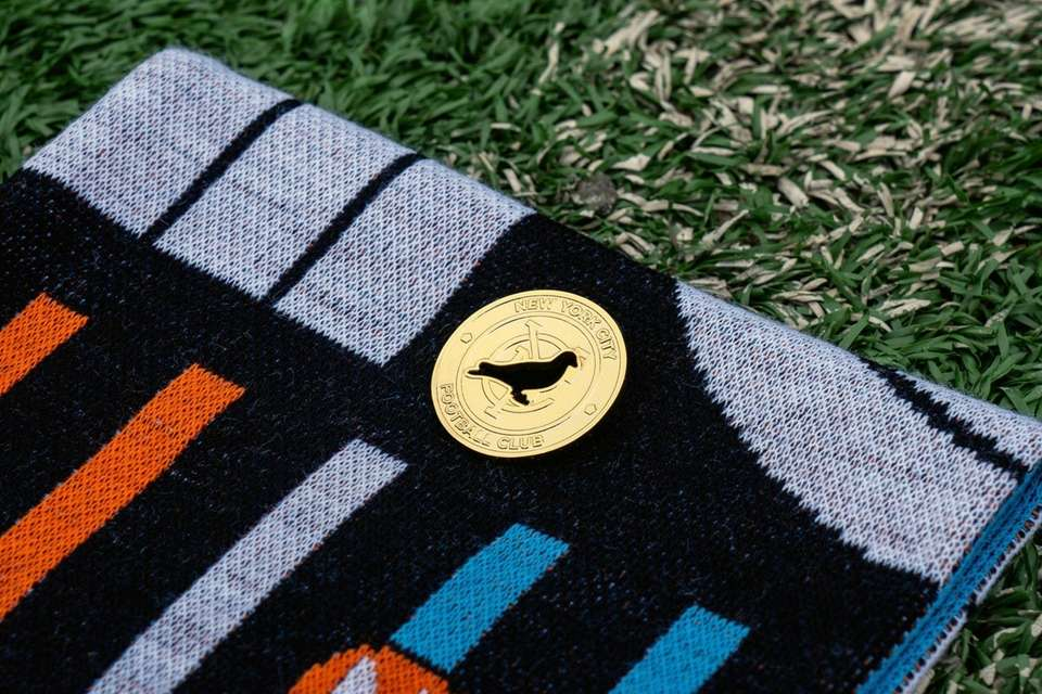 An item from NYCFC's new streetwear collaboration with