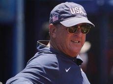USA softball head coach Ken Eriksen at the
