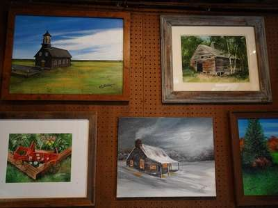 Paintings by artist Bill Kuchler, who is drawn