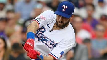 Joey Gallo of the Texas Rangers bats during