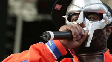 Rapper MF Doom performs at Central Park's Rumsey