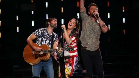 The country trio Lady A kicked off the