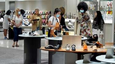 Shoppers browse at the Nordstrom NYC Flagship store