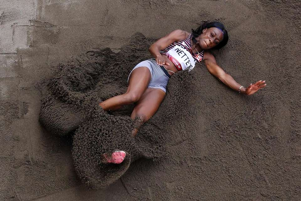Christabel Nettey of Team Canada competes in the