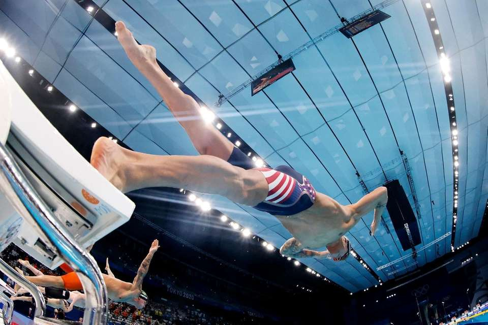 Caeleb Dressel of Team USA competes in the