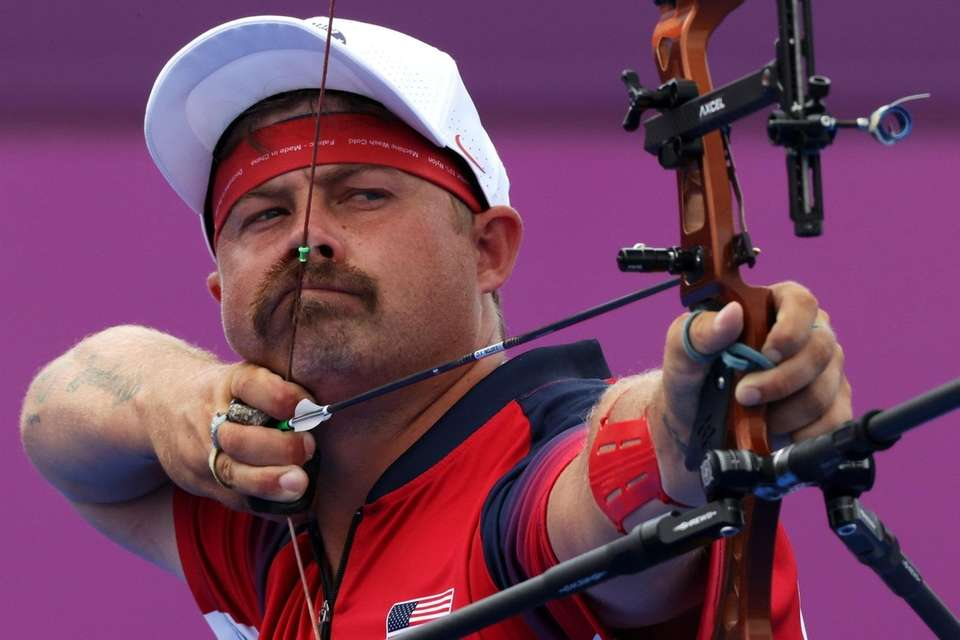 Brady Ellison of Team United States competes in