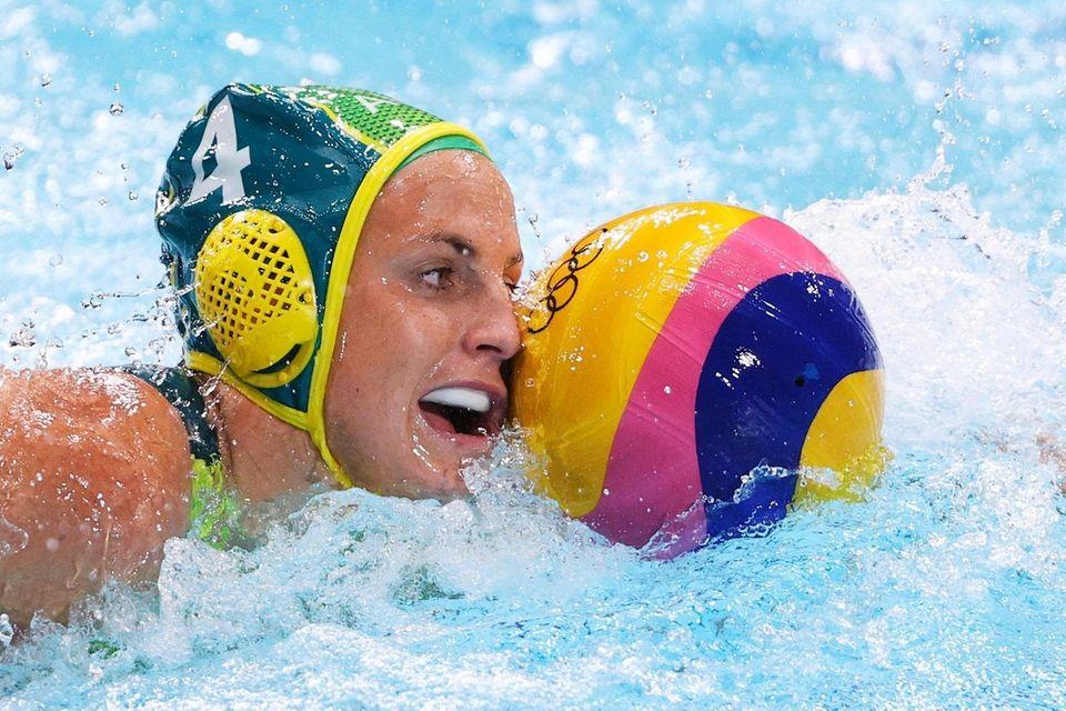 Bronte Halligan of Team Australia on attack during
