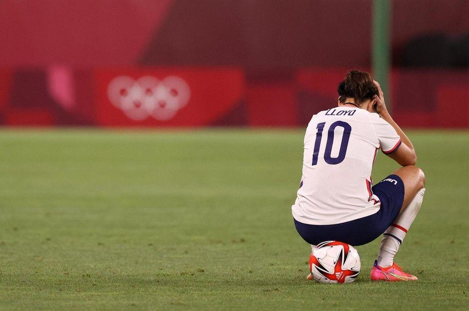 Kashima, Japón - 02 de agosto: Carli Lloyd # 10