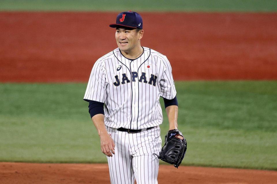YOKOHAMA, JAPAN - AUGUST 02: Masahiro Tanaka #18