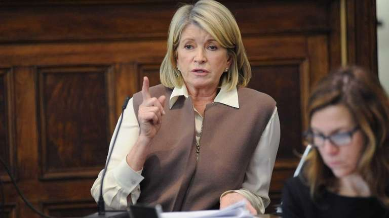 Home goods entrepreneur Martha Stewart testifies in early