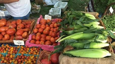 Produce from Beagan Youngs Farm at the Sea
