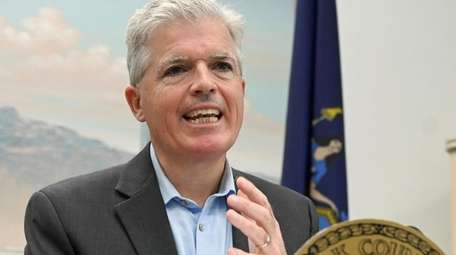 Suffolk County Executive Steve Bellone speaking in Bay