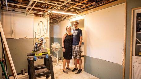 The basement of Jennifer and Mathew Carlino's East