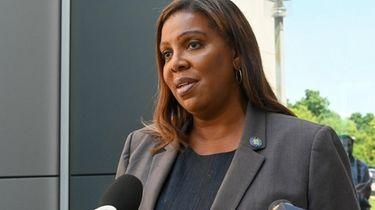 New York State attorney general Letitia James, speaks