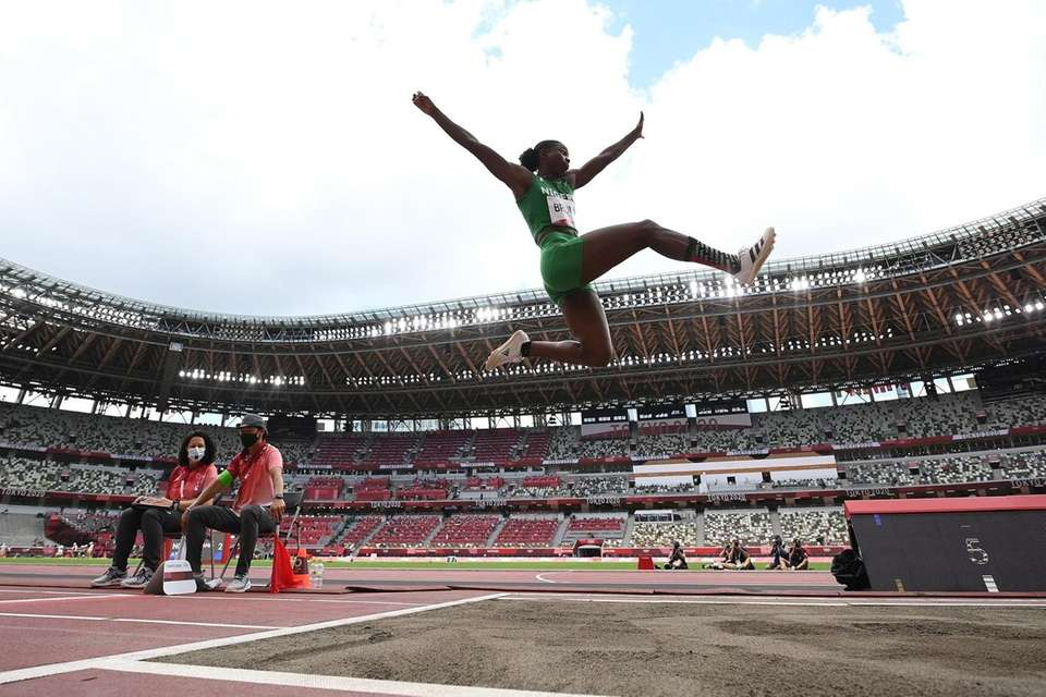 Ese Brume of Team Nigeria competes in the