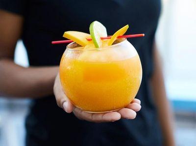 The mango margarita, Caribbean Island, Freeport, July 16,