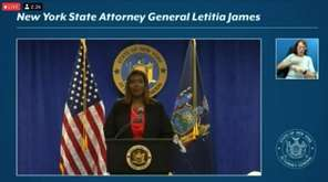 NY Attorney General Letitia James on Tuesday released