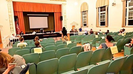 The Smithtown school board meeting on June 8.