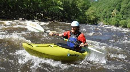 Whitewater rafting is a popular pastime available to