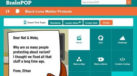 BrainPOP's Black Lives Matter module is to be