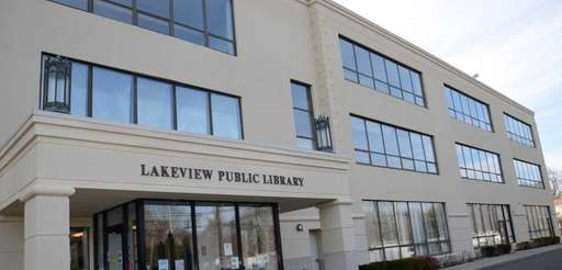 The Lakeview Public Library at 1120 Woodfield Rd.