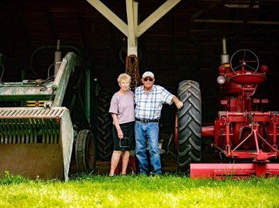 Ron and Nancy Bush at their farm in