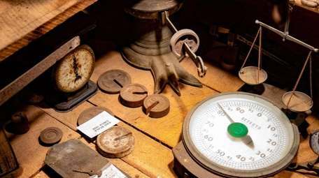 A collection of scales at Ron Bush's farm