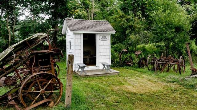 The circa-1860 outhouse Ron Bush retrieved from a