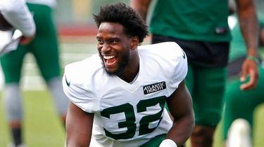 New York Jets running back Michael Carter (32)
